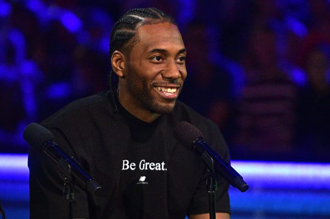 Kawhi Leonar at the Nickelodeon Kids' Choice Sports 2019. (Matt Winkelmeyer/KCASports2019/Getty for Nickelodeon)