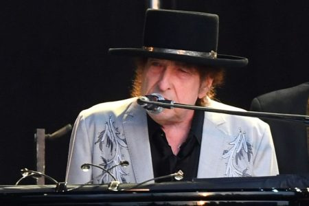 Bob Dylan performs as part of a double bill with Neil Young. (Dave J Hogan/Getty Images)