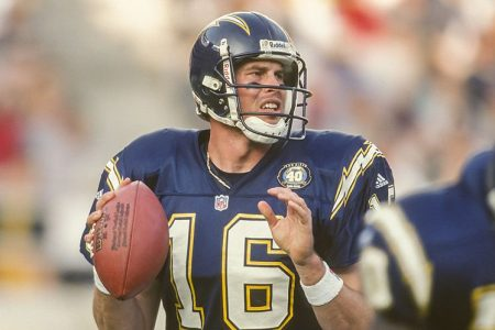 Ryan Leaf playing for the San Diego Chargers in 2001. (Photo by David Madison/Getty Images)
