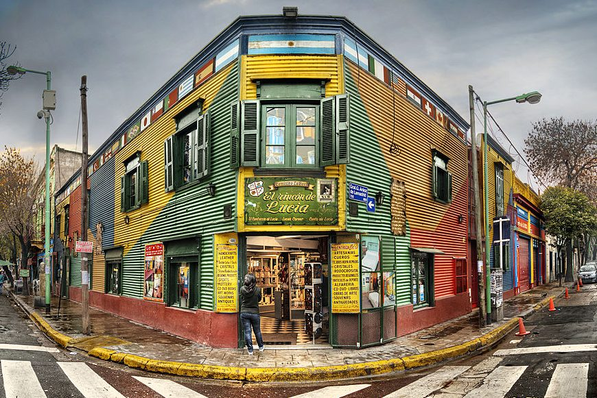 Caminito St in La Boca in Buenos Aires.