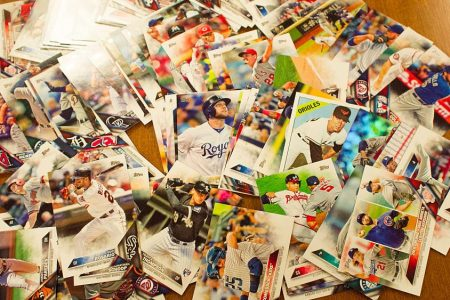 Topps baseball cards from the 2016 season. (Kris Connor/Getty)
