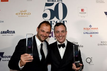 Daniel Humm and Will Guidara (MAL FAIRCLOUGH/AFP/Getty Images)