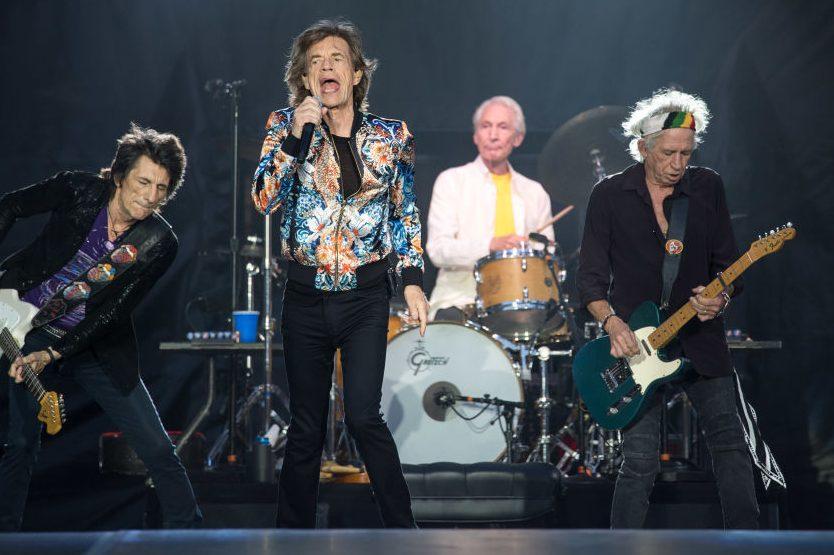 The Rolling Stones at Mercedes Benz-Arena during their European tour. (Sebastian Gollnow/PA via Getty)