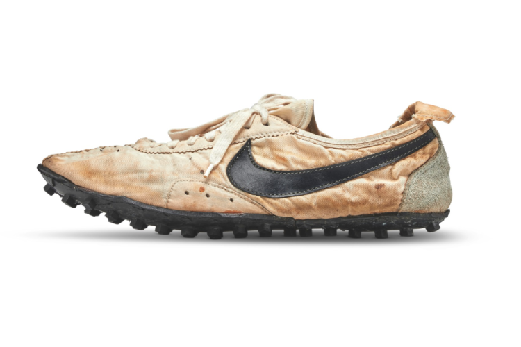 Nike Moon Shoes sold at auction for record price.
