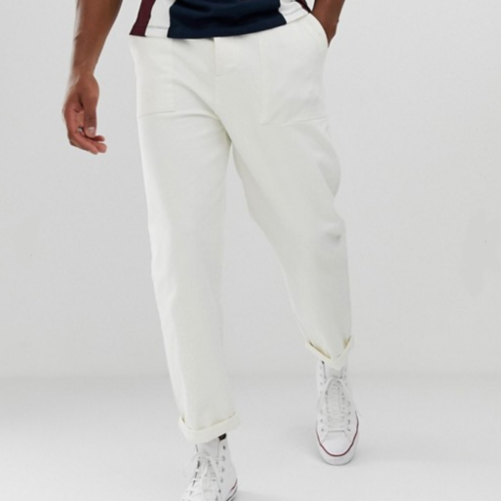 asos relaxed white pant