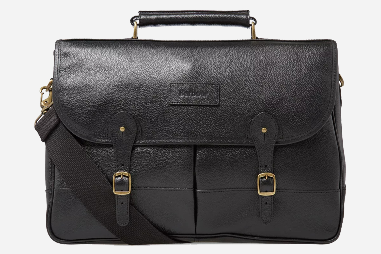 Barbour Sale at End Clothing Black Leather Briefcases