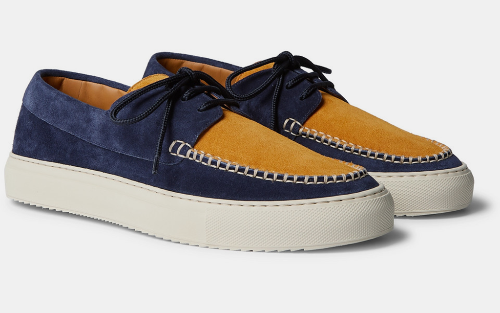 mr porter two tone suede boat