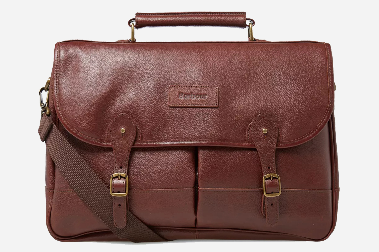Barbour Discount on Brown Leather Briefcases