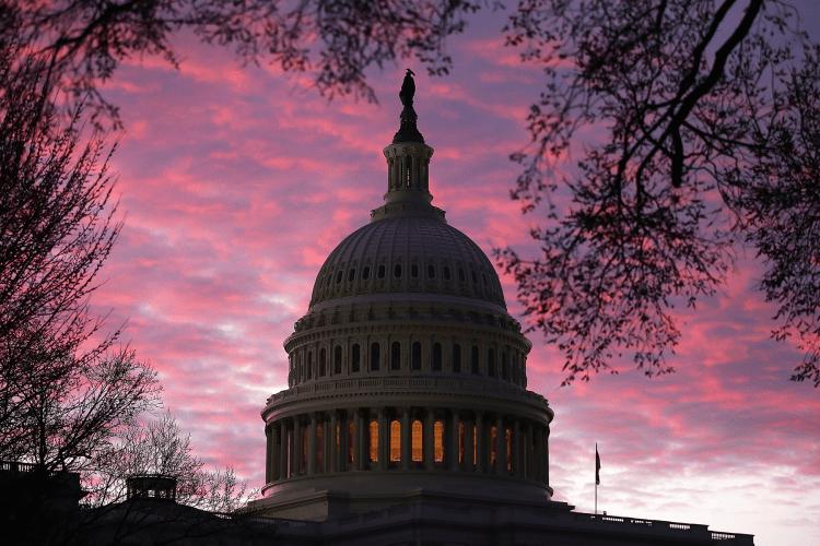 US Capitol sunrise