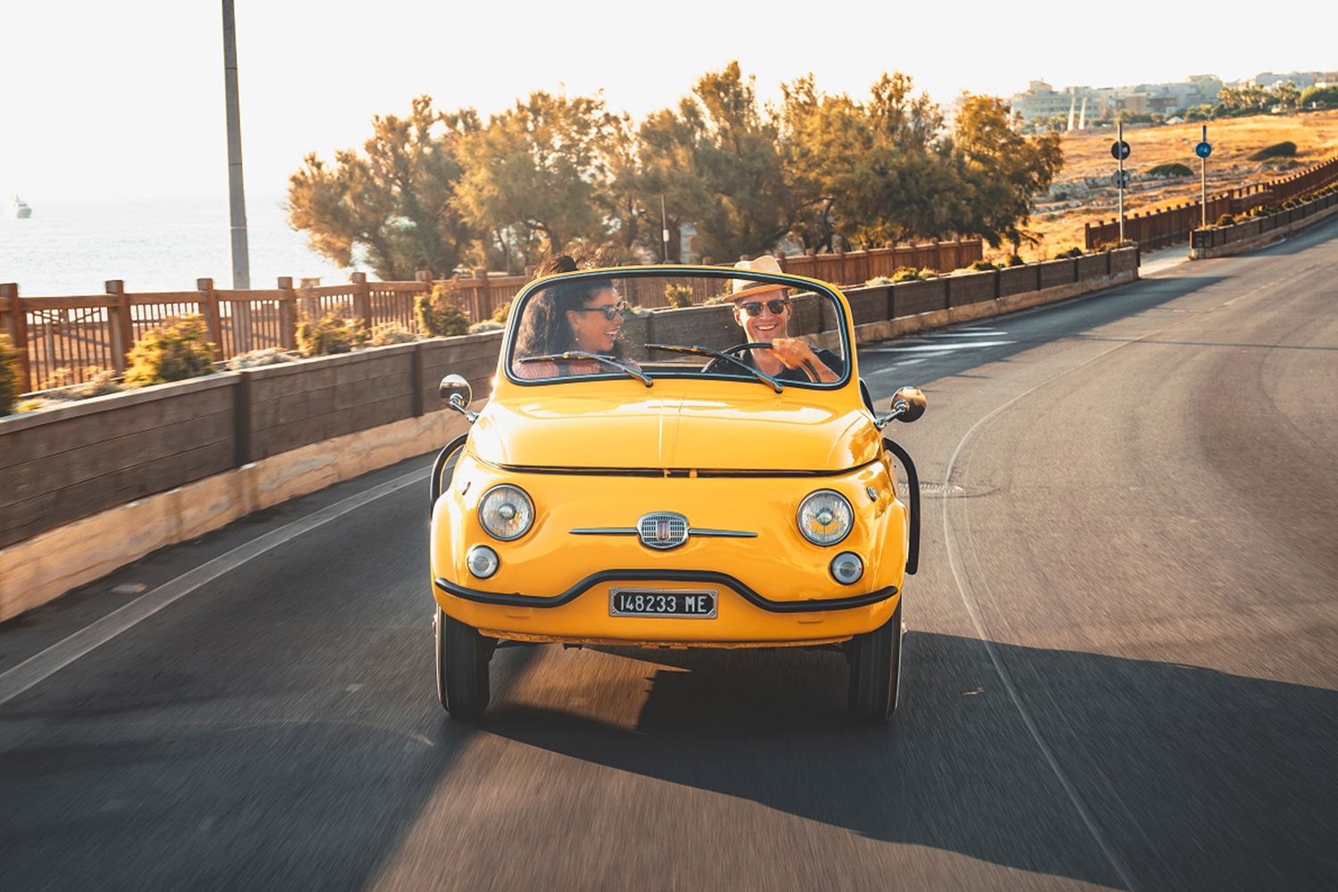 Rent Electric Fiat 500 Jolly From Hertz Italy and Garage Italia