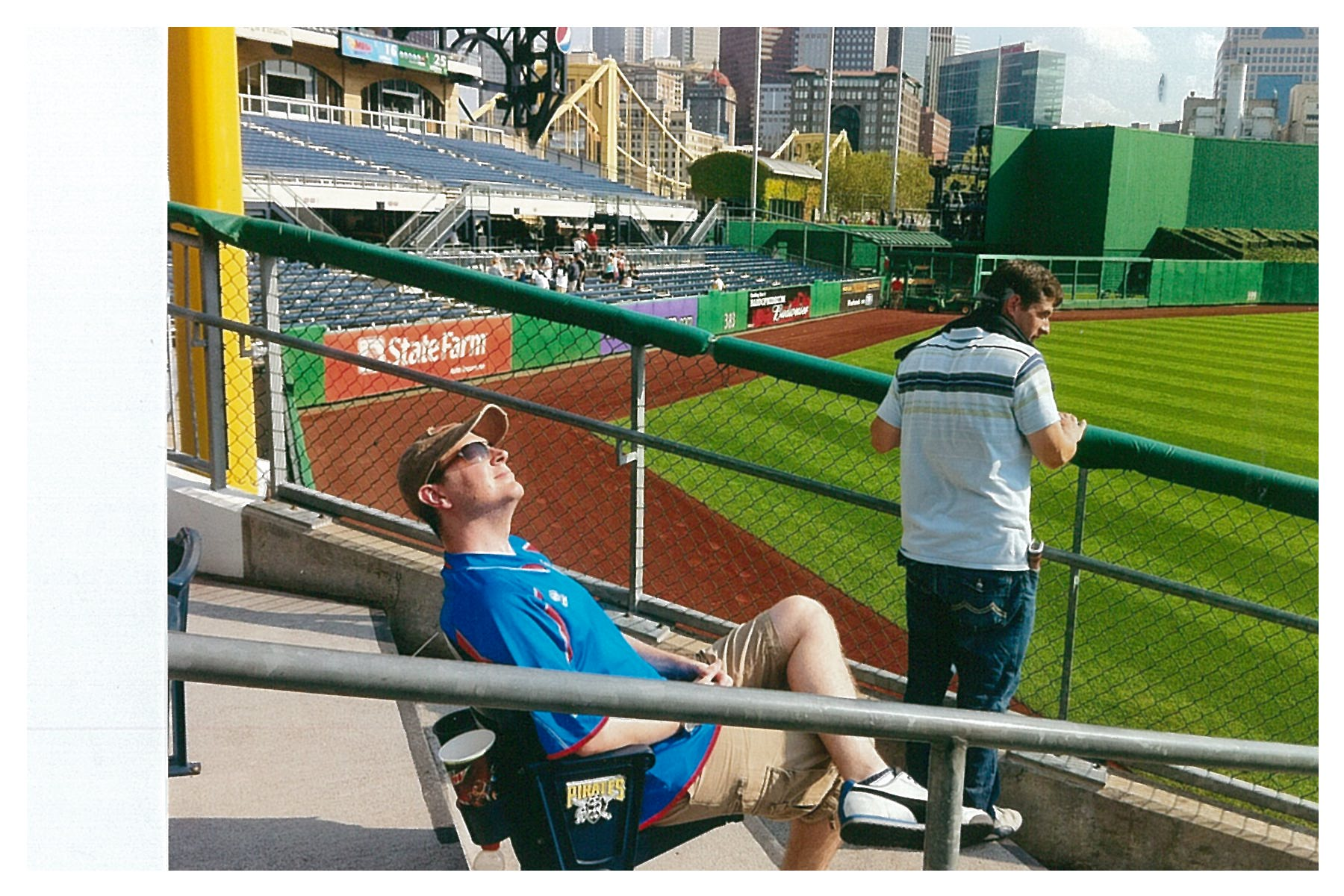 Rich O'Malley at PNC Park in Pittsburgh. (Post Hill Press)