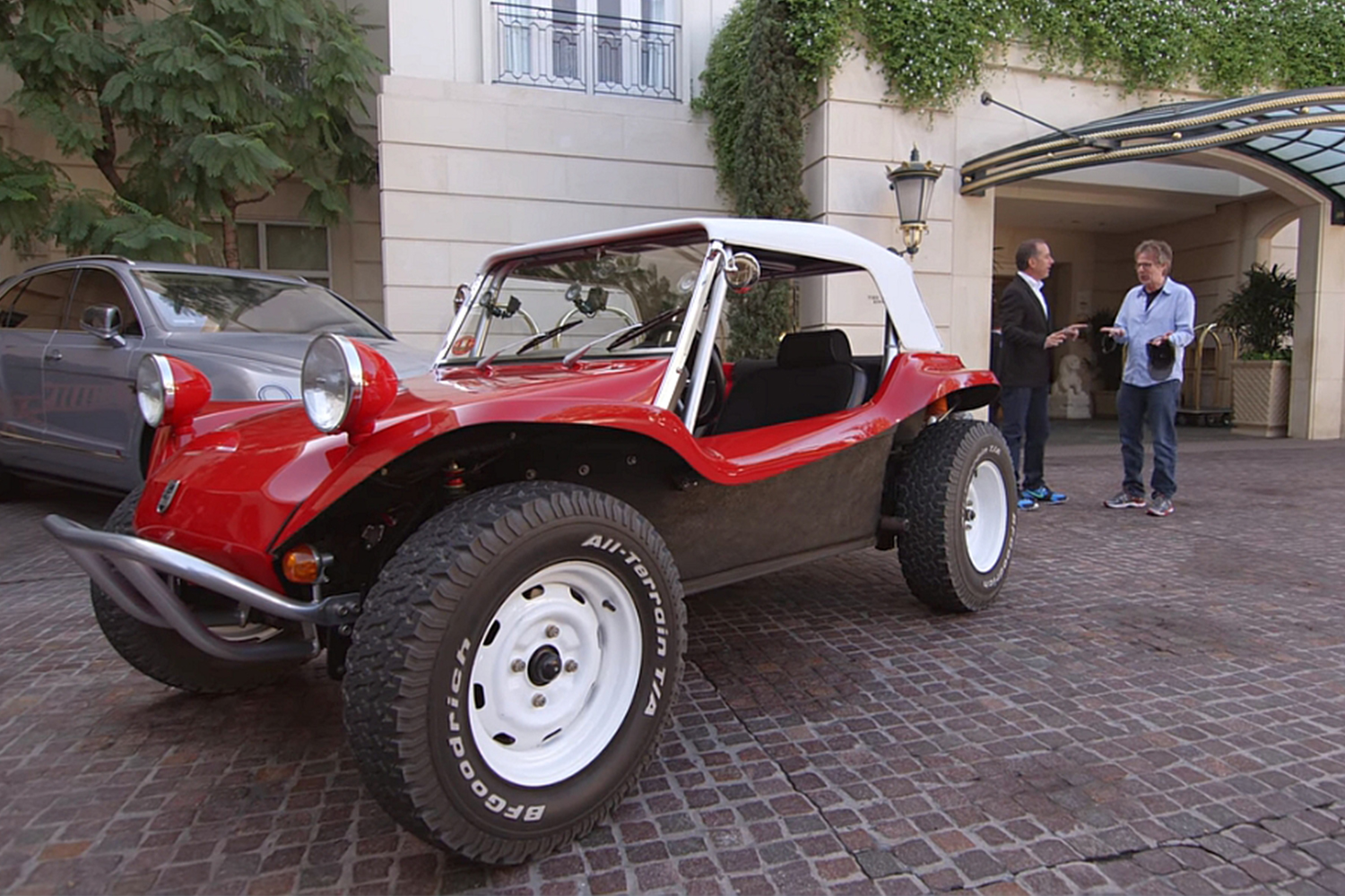 Meyers Manx Dune Buggy Comedians in Cars Getting Coffee