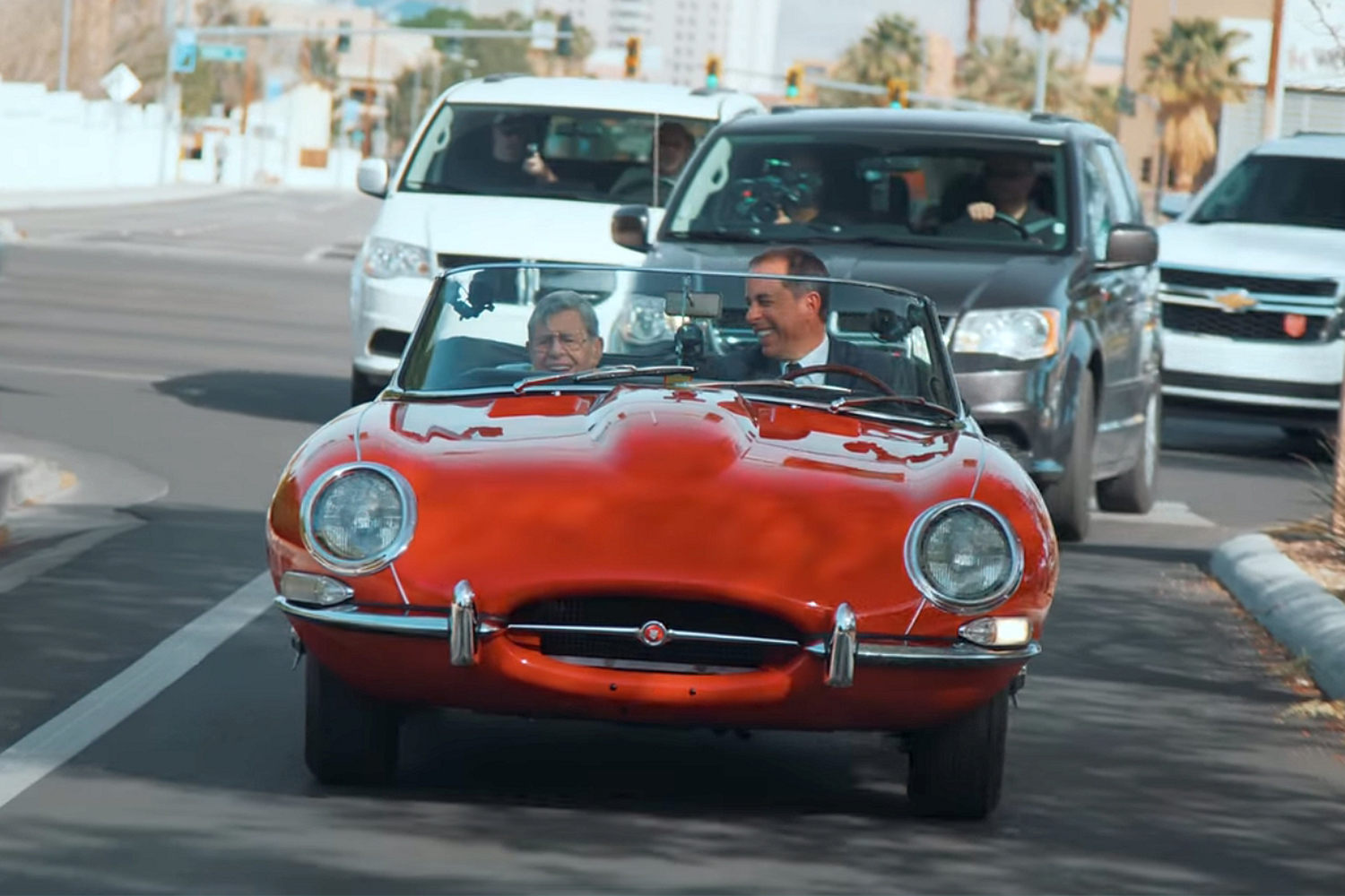 Jaguar E-Type Roadster Jerry Lewis Comedians in Cars Getting Coffee