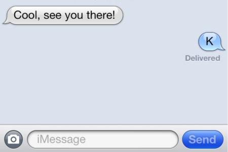 K Text Message