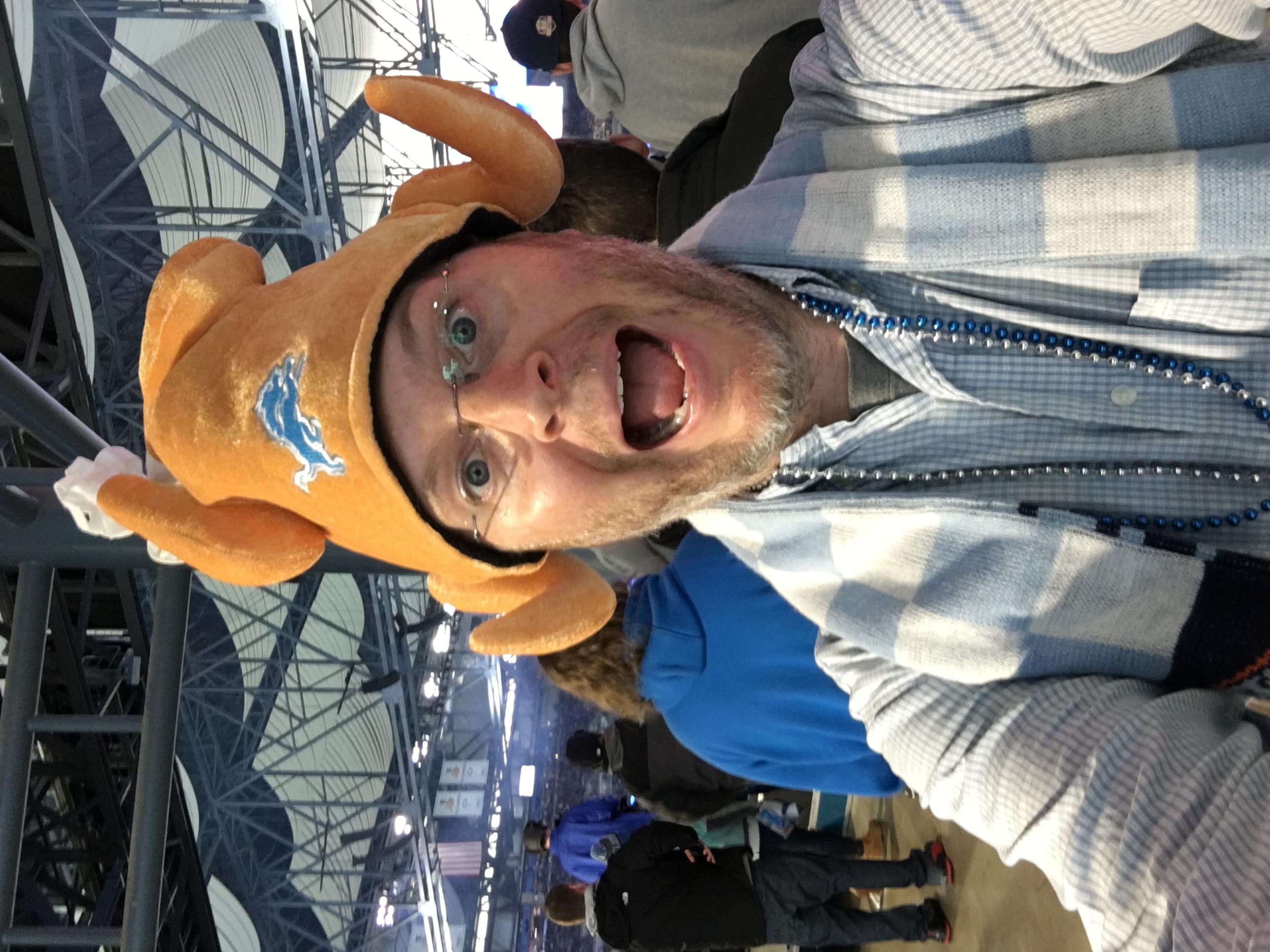 Rich O'Malley seeing the Lions in Detroit. (Post Hill Press)