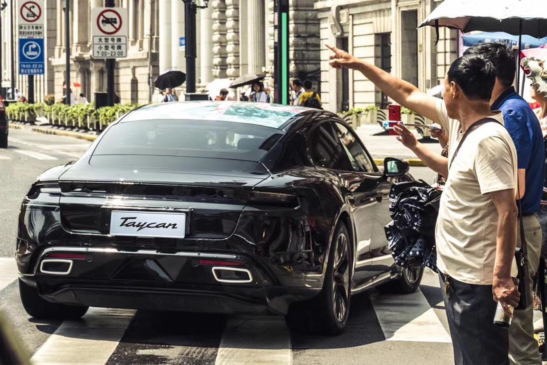 Porsche Taycan EV Testing in Shanghai 2019
