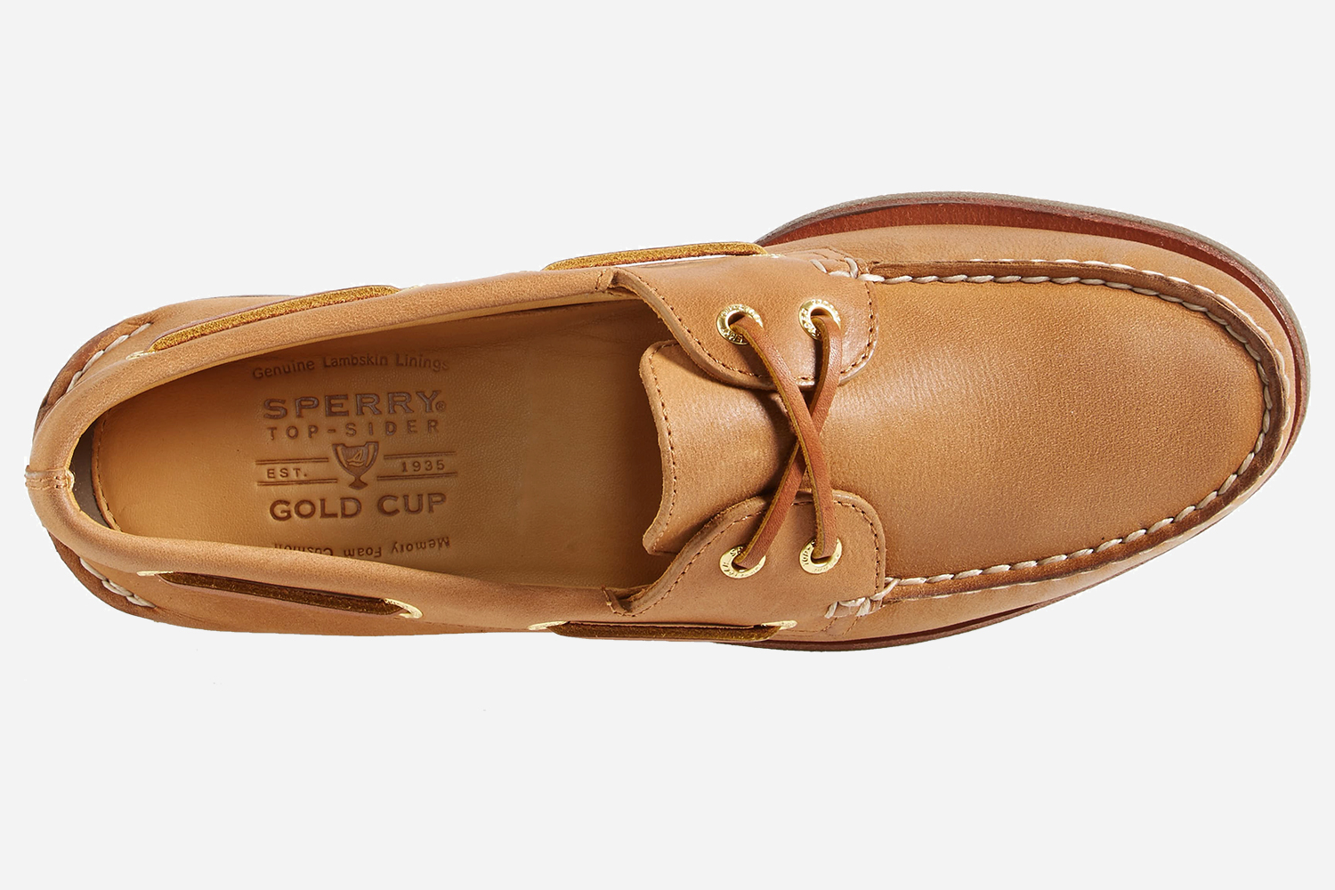Sperry Gold Cup Authentic Original Boat