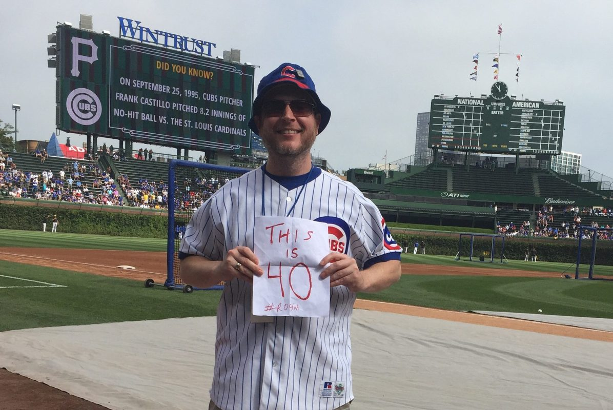 Rich O'Malley at Wrigley Field in Chicago. (Post Hill Press)