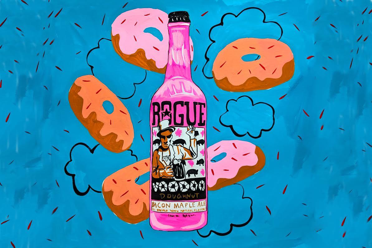 Rogue ale pink bottle