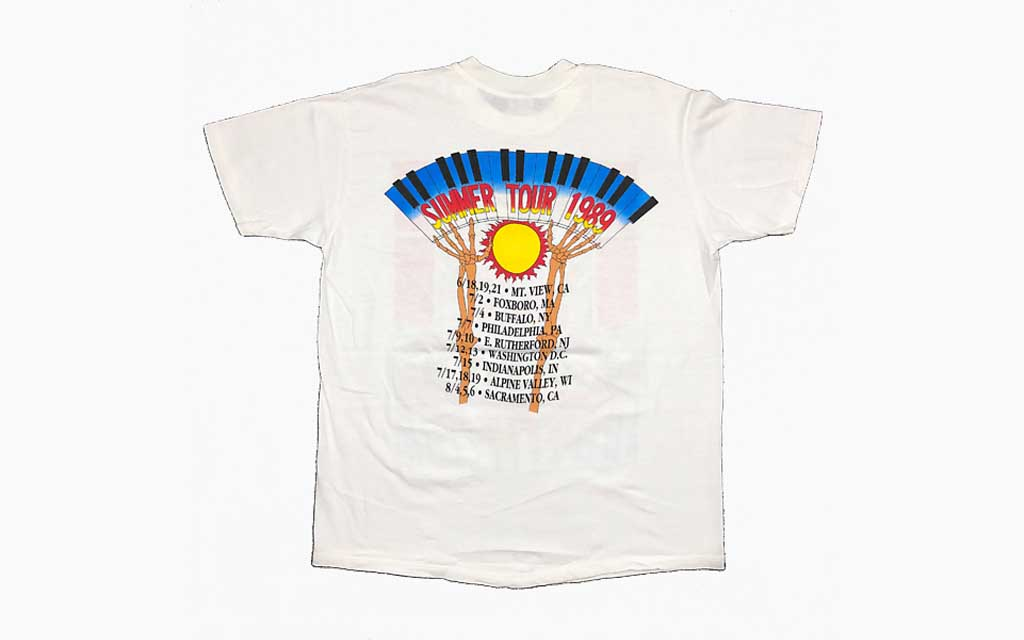 1989 Official Tour Tee (Back) Grateful Dead