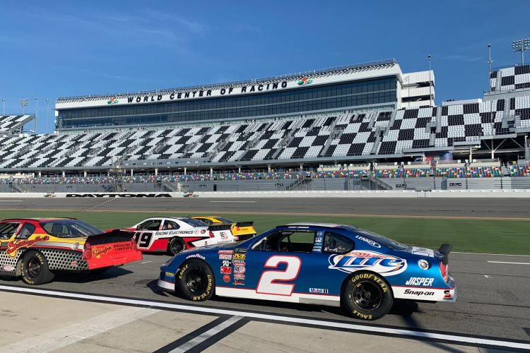 What It's Like to Race a Car Around Daytona International Speedway
