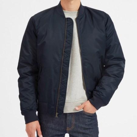 Everlane Filled Nylon Bomber Jacket