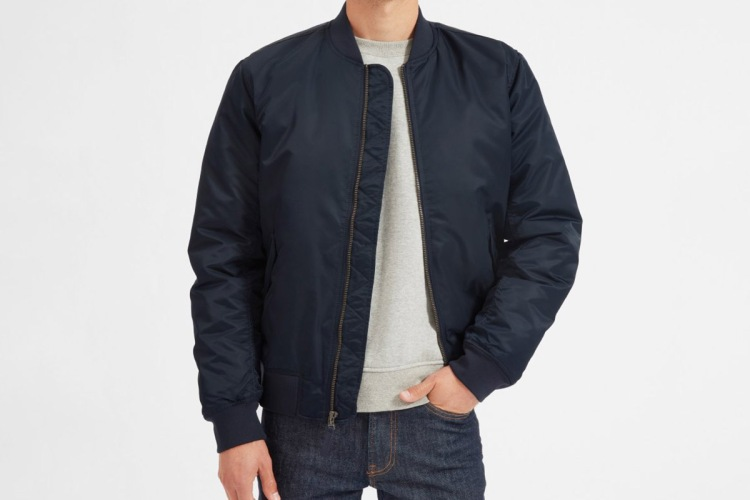 Everlane Filled Nylon Bomber Jacket