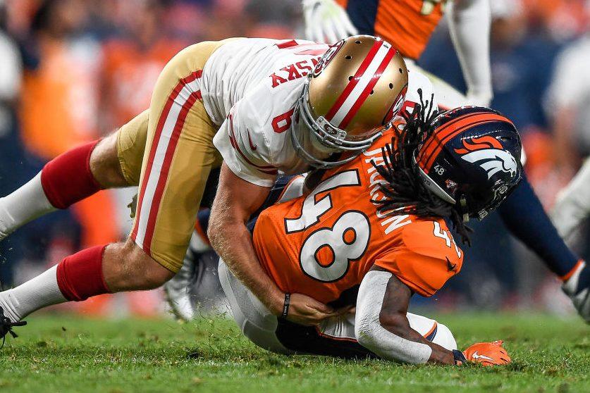 See Australian-Rules Footballer Mitch Wishnowsky Hit in NFL