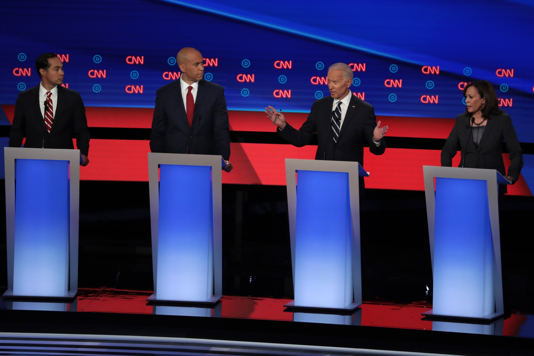 Democratic Presidential Candidates Debate In Detroit