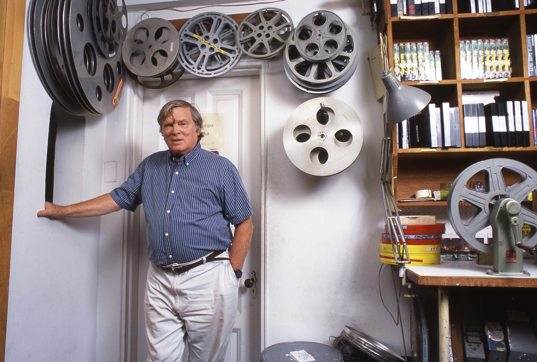 Film director D.A Pennebaker in 1995 (Photo by David Corio/Michael Ochs Archive/Getty Images)