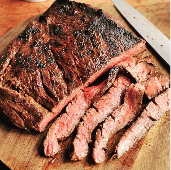 An American Wagyu Bavette steak from Snake River Farms