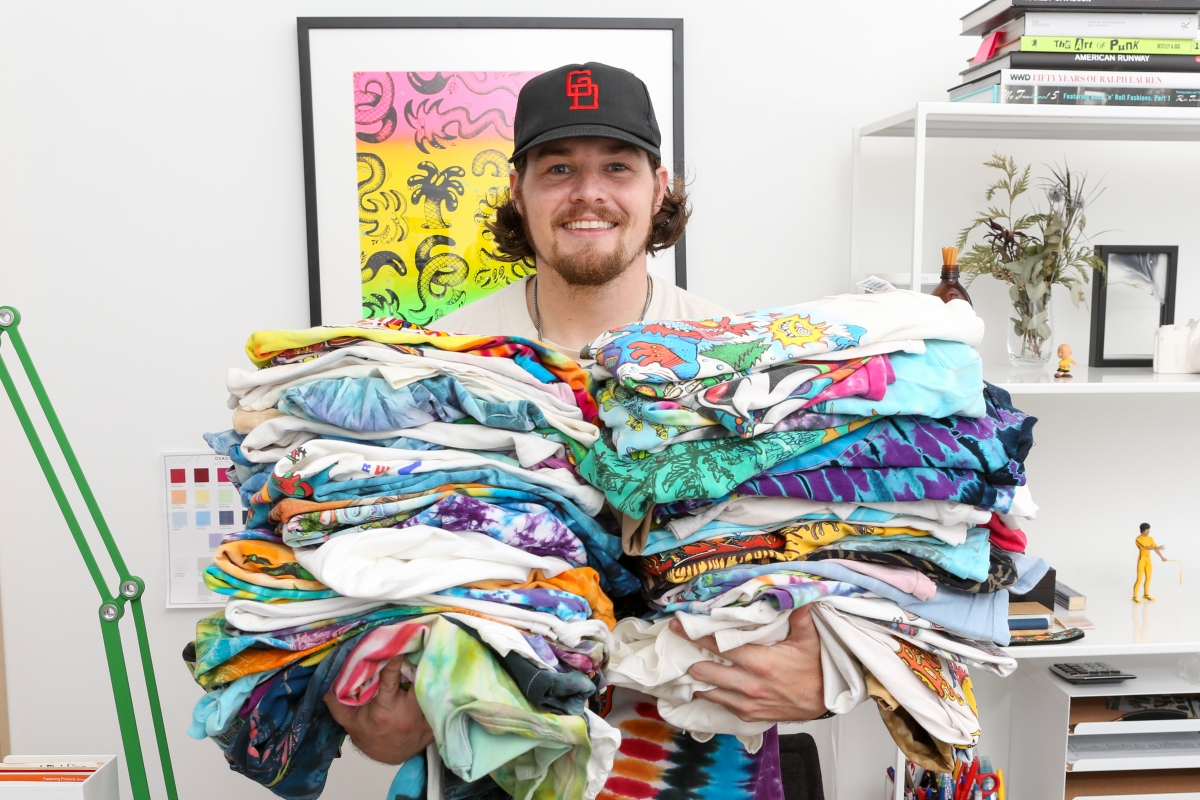 Taylor Welch @Deadhead showing off his grateful Dead shirts