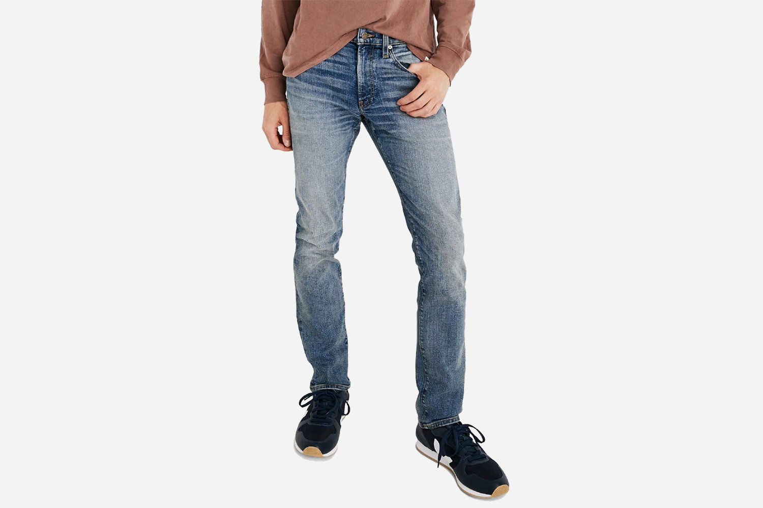 Madewell Men's Slim Fit Jeans in Baywood Wash
