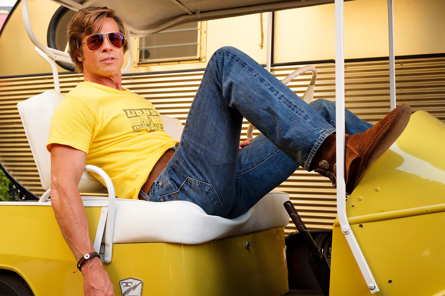 Brad Pitt as Cliff Booth in Tarantino's Once Upon a Time in Hollywood