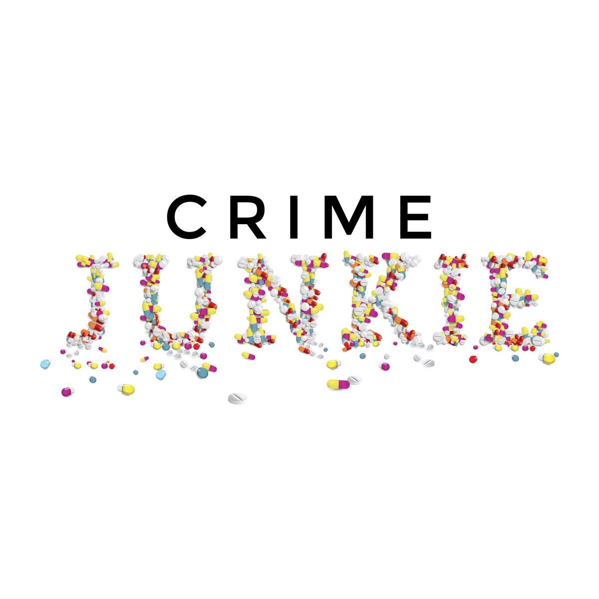 """""""Crime Junkie"""" logo"""