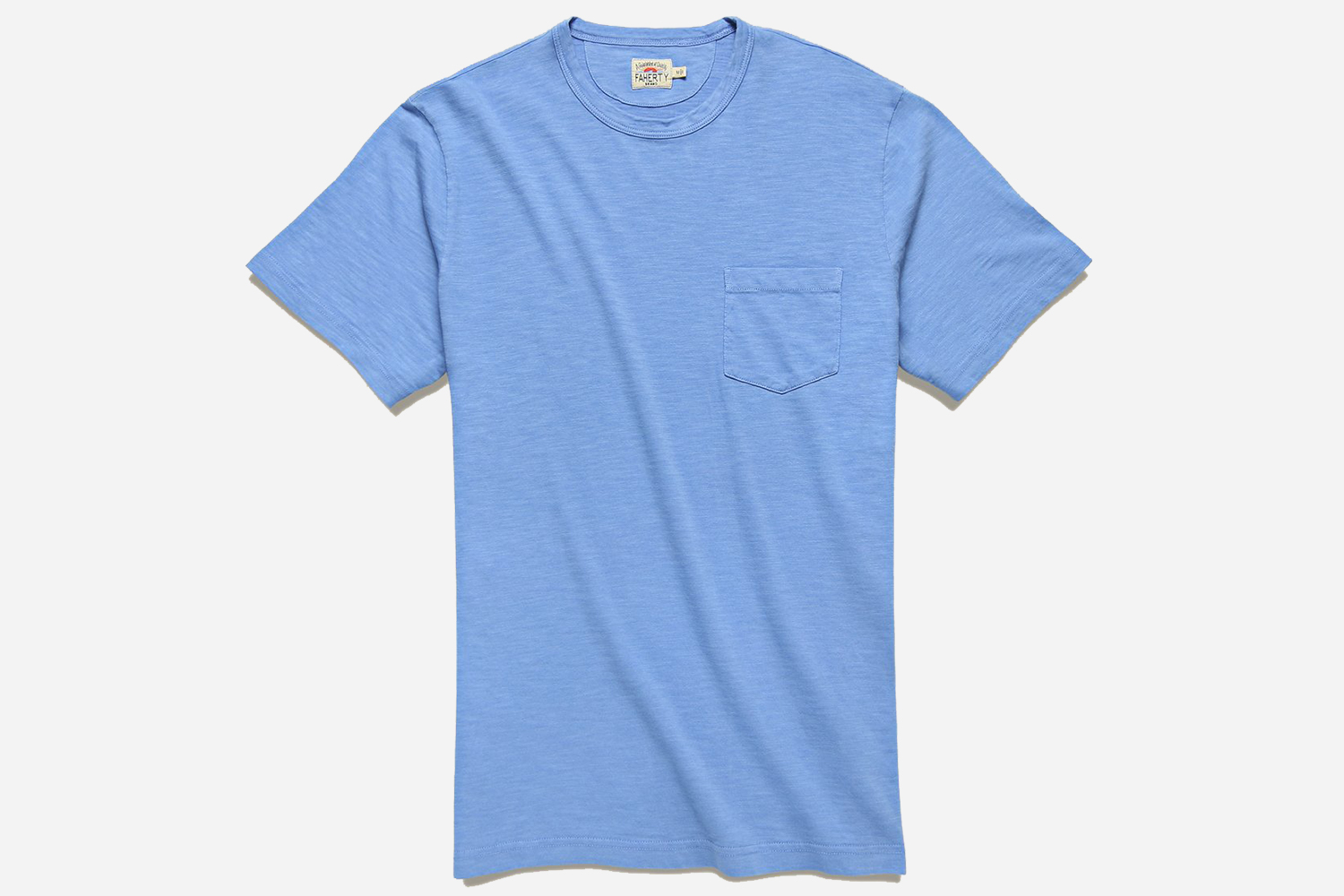 Faherty Men's Garment Dyed Pocket Tee