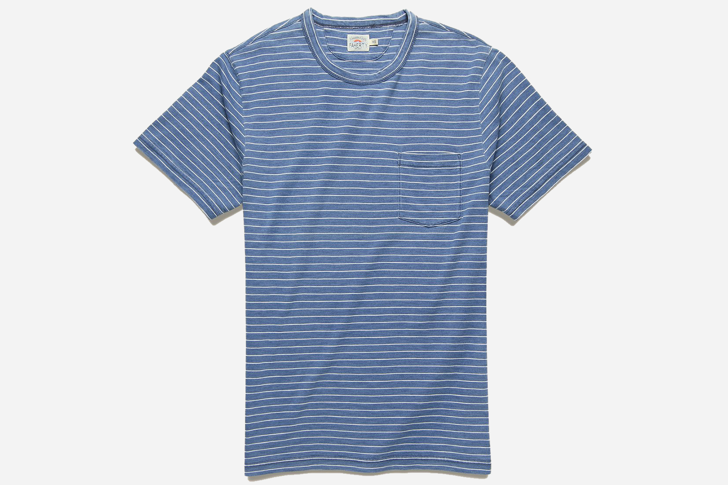 Faherty Men's Indigo Pocket Tee