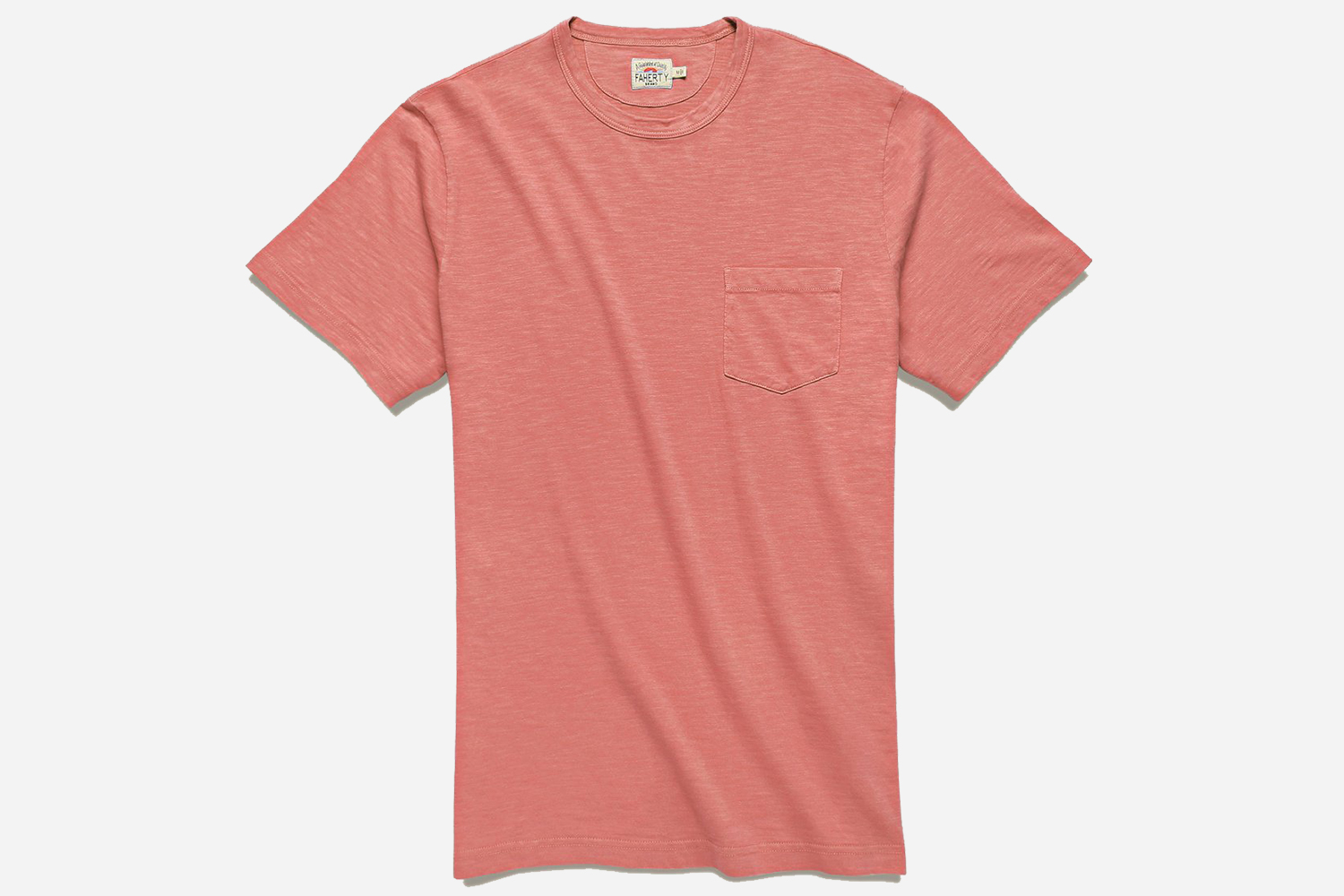 Faherty Garment Dyed Pocket Tee