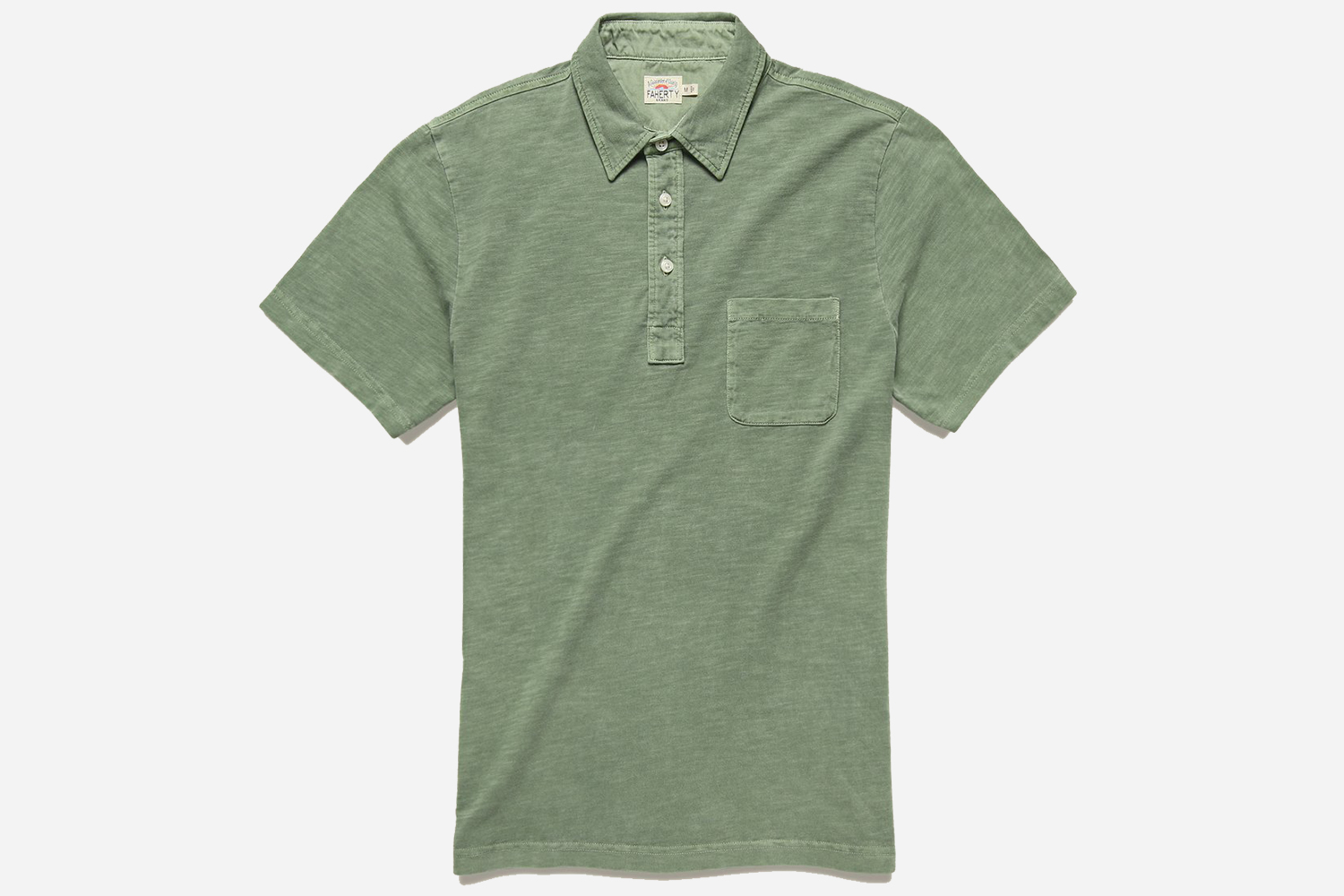 Faherty Garment Dyed Polo Shirt