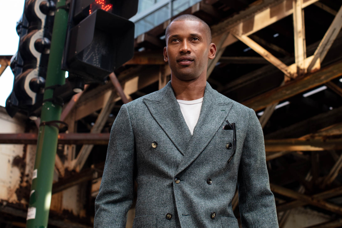 knot standard double breasted jacket