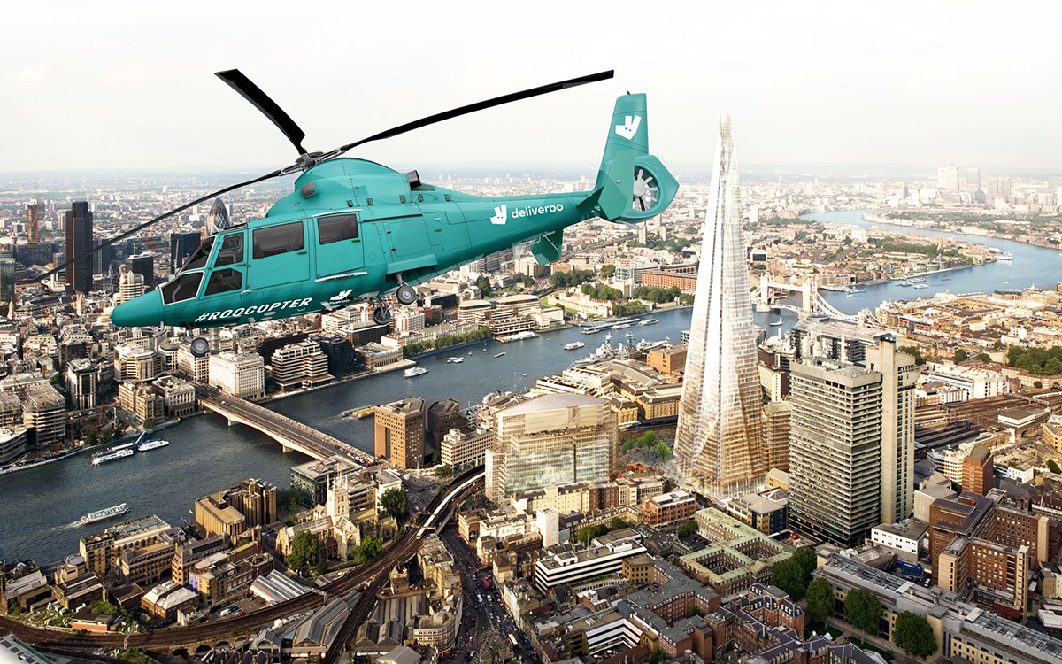 Deliveroo Food Helicopter Experience in London - InsideHook