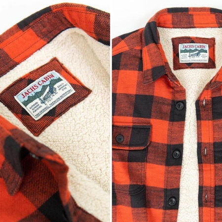 Jachs NY Buffalo Plaid Flannel Sherpa-Lined Shirt Jacket