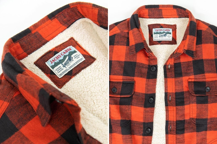 Jachs NY Buffalo Plaid Flannel Sherpa-Lined Shirt Jacket