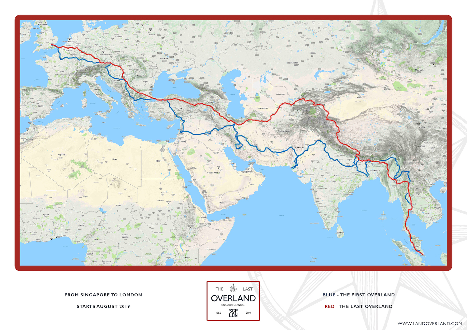 The Last Overland and First Overland Maps