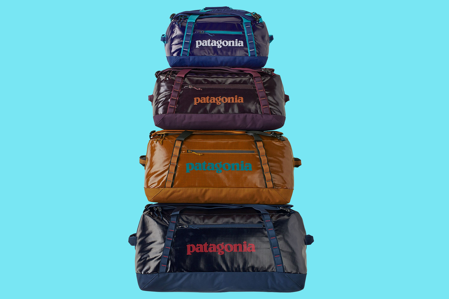 Patagonia Recycled Plastic Bottle Black Hole Duffel Bags