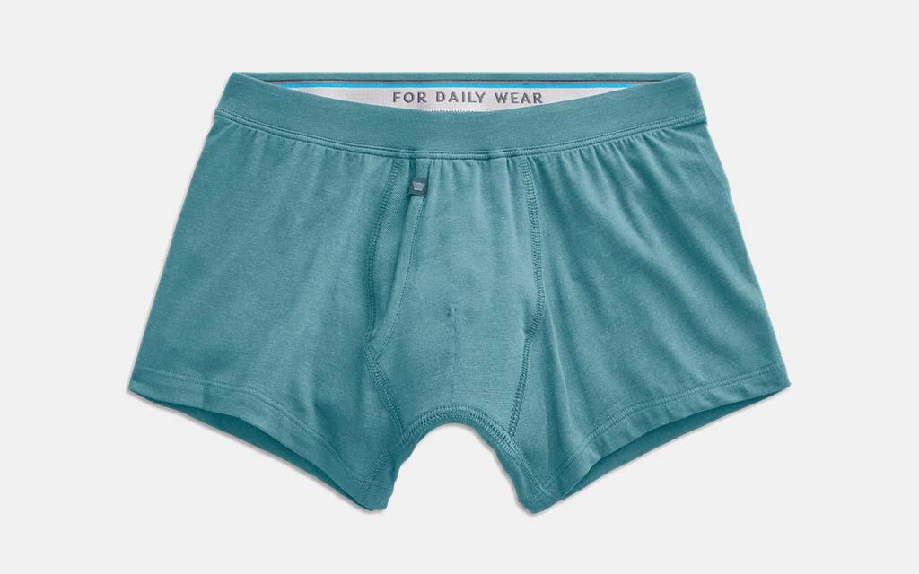 Boxer Briefs Mens Underwear Blue Seamless Plaid Trunks for Men