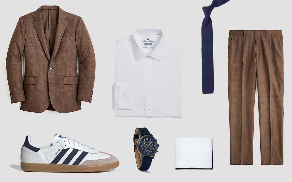 Suit and Sneakers J.Crew Adidas Timex The New Business Casual