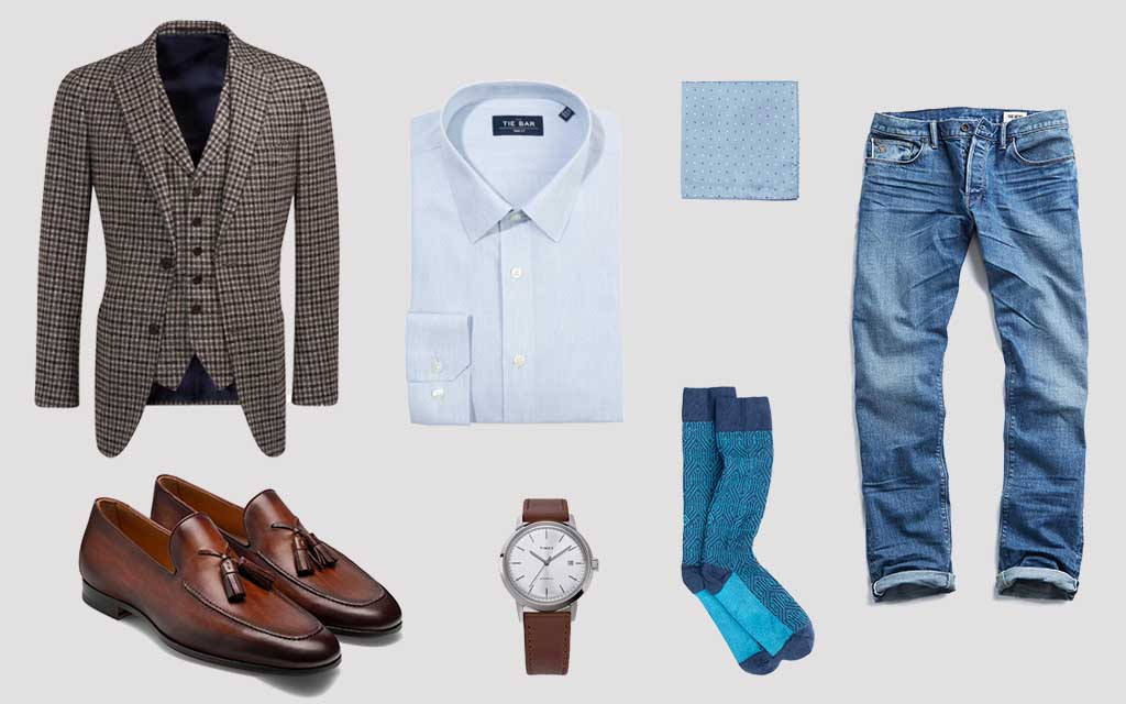 Three-piece suit Suit Supply Timex The New Business Casual
