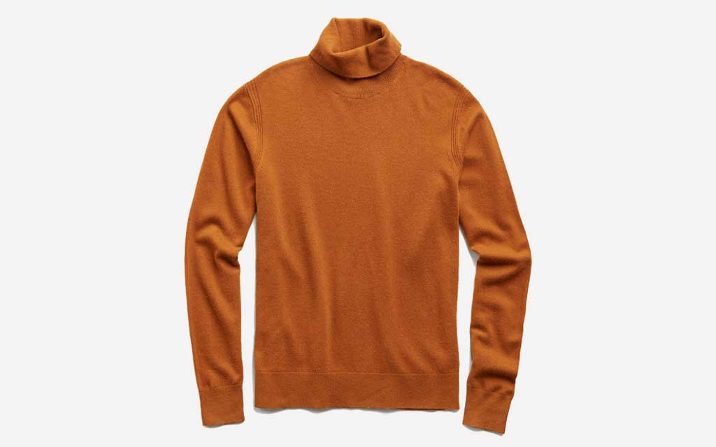 Todd Snyder Cashmere Turtleneck in Chestnut