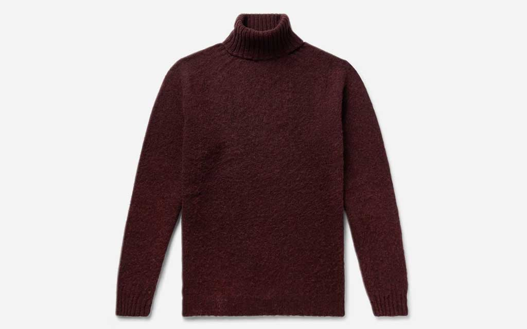 Howlin' Burgundy Sylvester Slim-Fit Wool Rollneck Sweater